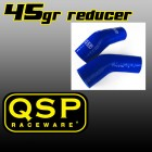 SALE! QSP Silicone Reducer 90 Degrees 35mm>32mm Blue (Universal)