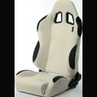 Adjustable Sport Seat Type T White/Black (Universal)
