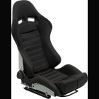 Adjustable Sport Seat Type BS5 Black/Grey Stitches (Universal)