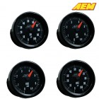 AEM Electronics Oil/Fuel Pressure Gauge Up To 100PSI / 6.9 Bar Analog (Universal)
