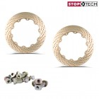 Stoptech Big Brake Replacement Aero-Rotor Friction Rings Zinc Drilled (328x28)