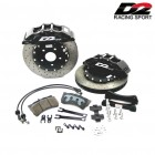 D2 Racing Sports Front Big Brake Kit 330x32mm 8-Pot With Black Calipers (Civic 01-05 Type-R)