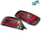 Depo Full LED Tail Lights Black (S2000)
