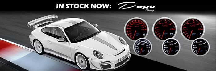 Depo Racing gauges is stock now!